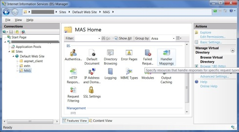 Mappings Handler Settings in IIS 7.0